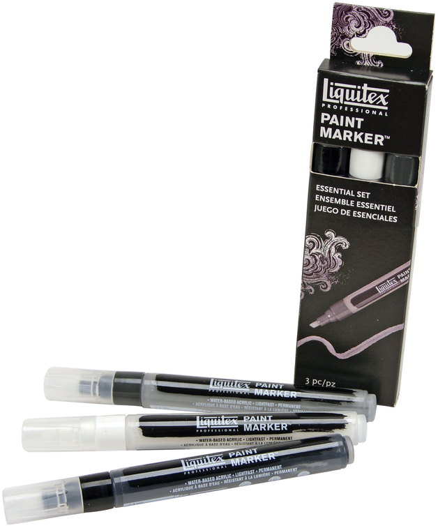 Liquitex: Acrylic Marker Set 3 Fine Neutral (2mm)