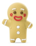 16GB Bone Collection USB Flash Drive - Gingerbread Man