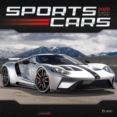 Sports Cars 2020 Square Plato Foil Wall Calendar