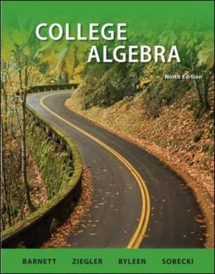 College Algebra by Michael Ziegler image