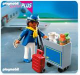 Playmobil - Flight Attendant with Service Cart (4761)