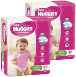 Huggies Nappies Bulk Bundle - Walker Girl 13-18kg (64)
