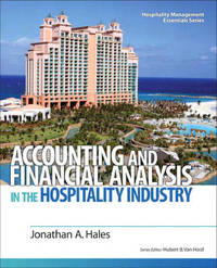 Accounting and Financial Analysis in the Hospitality Industry by Johnathan Hales image