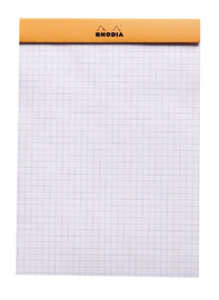 Bloc Rhodia Orange A5 80 5x5 Graph Sheets image