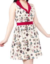 Sourpuss Kewpie Seahorse June Dress (Large)