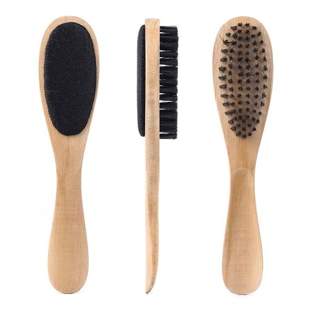 Multi-Pupose Wooden Clothes Brush and Lint Remover