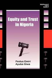 Equity and Trust in Nigeria by Festus Emiri