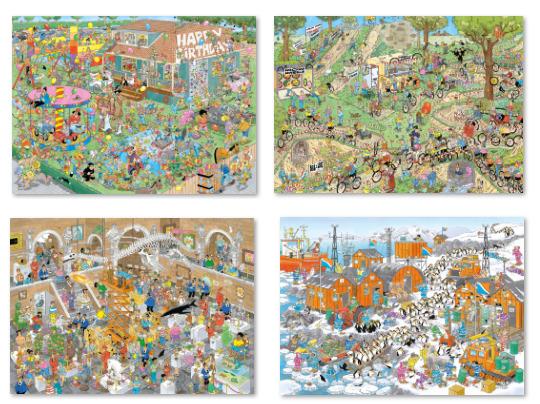 Holdson: 1,000-Piece Puzzle Complete Set - Van Haasteren image
