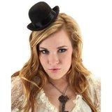 Steampunk - Mini Black Bowler Hat