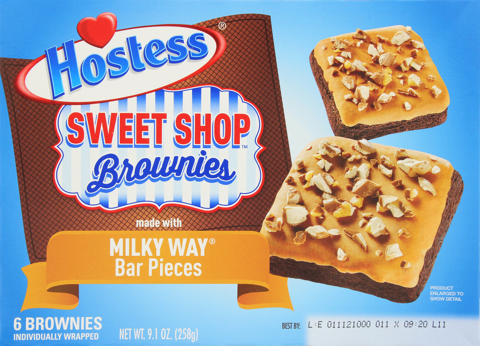 Hostess Sweet Shop Brownies with Milky Way 6pk image