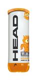Head T.I.P 2 Pressureless Ball Orange (3 Pack Tube)