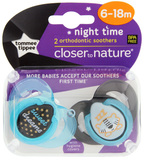 Closer to Nature Night Time Soother: 6-18 Months (Blue/Sweet Dreams) - 2 Pack