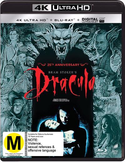 Bram Stoker's Dracula on UHD Blu-ray, UV
