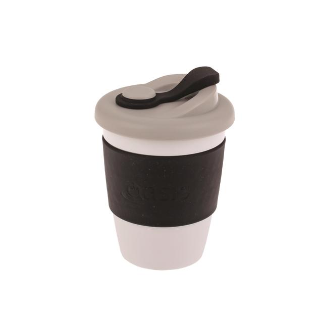 Oasis Plastic Coffee Cup - Black (340ml)