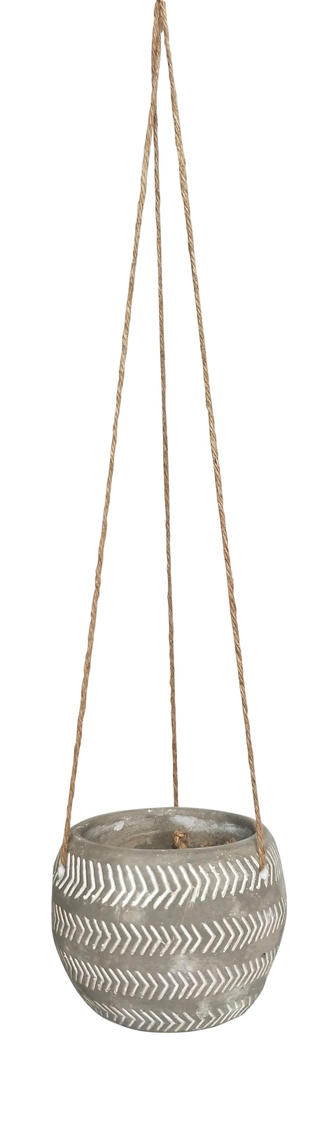 White Arrow Hanging Concrete Planter (12cm) image
