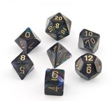 Chessex Signature Polyhedral Dice Set Shadow/Gold