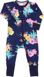 Bonds Zip Wondersuit Long Sleeve - Coolangatta Kids Deep Arctic - Premature