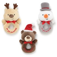 My 1St Christmas Rattle - 3 Assorted