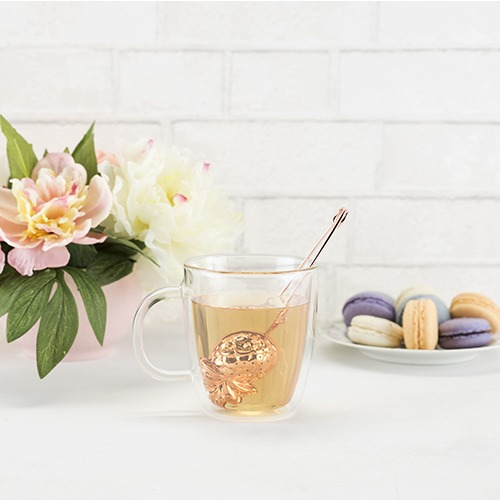 Pinky Up: Pineapple Tea Infuser - Rose Gold image