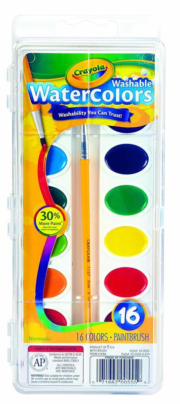 Crayola: Washable Water Colours - 16-Pan Set