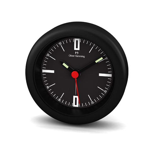 Oliver Hemming: Desire Mini Alarm Clock - Black (58mm)