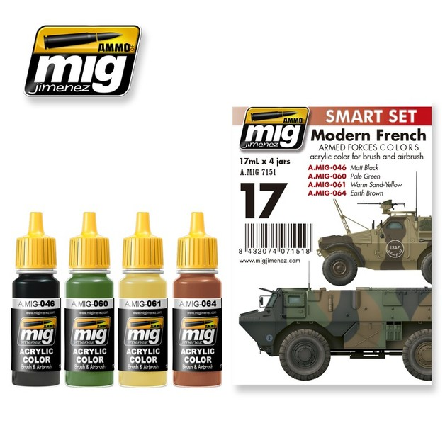 Modern French Armed Forces Colours Paint Set | at Mighty Ape NZ