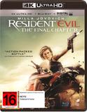 Resident Evil: The Final Chapter on Blu-ray, UHD Blu-ray, UV