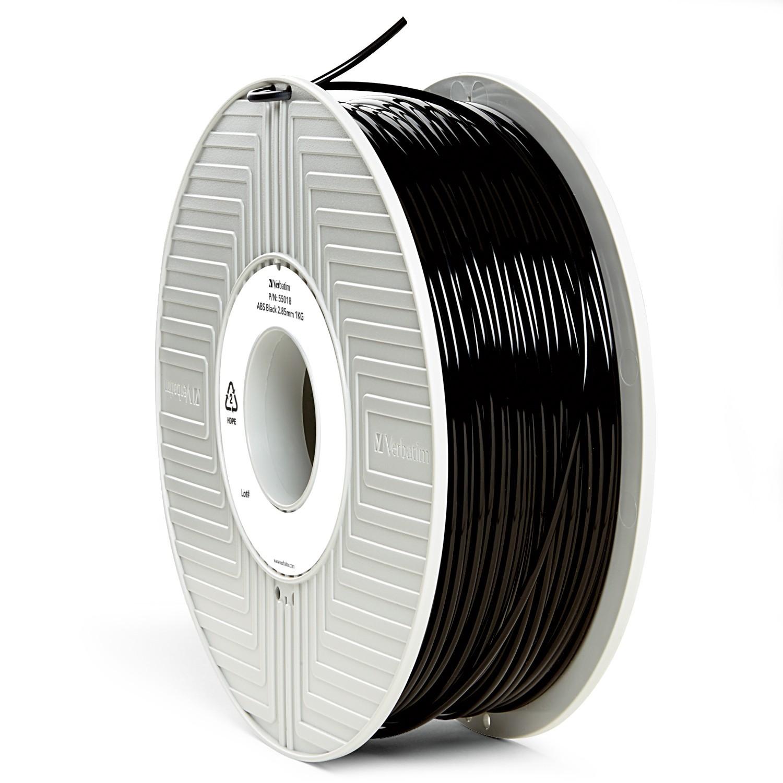 Verbatim 3D Printer ABS 3.00mm Filament- 1kg (Black) image