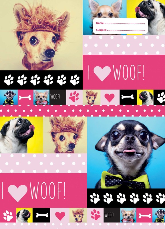 Spencil: Woof Book Cover Scrapbook Size Book Cover - Assorted (Pack 3)