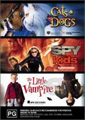 Action Kids DVD Collection (Cats & Dogs, Spy Kids, Little Vampires) on DVD