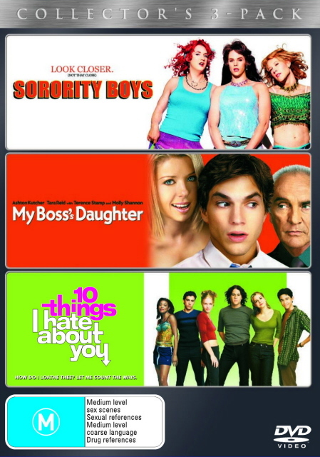 Sorority Boys / My Boss's Daughter / 10 Things I Hate About You (3 Disc Set) on DVD