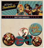 DC Bombshells: Harley Quinn - Pin Badge Set
