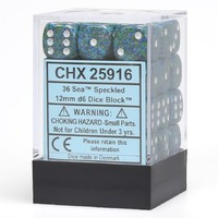 Chessex Signature 12mm D6 Dice Block: Sea Speckled