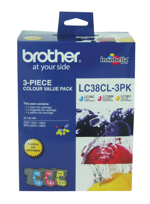 Brother LC-38CL3PK CMY Colour Ink Cartridges (Triple Pack)