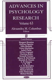 Advances in Psychology Research: Volume 63 image