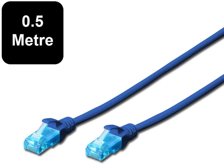 Digitus UTP Cat 5e Patch Lead - 0.5m Blue image