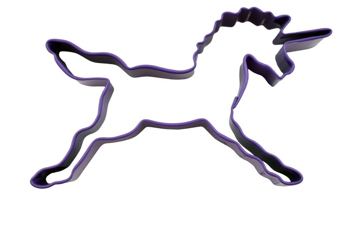 Unicorn Cookie Cutter 11.5cm - Purple image