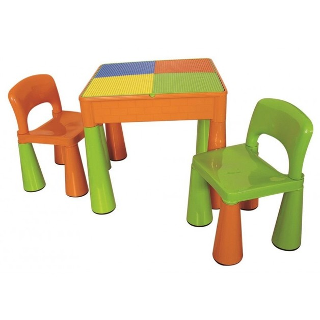 Reversible Block Table and Chairs