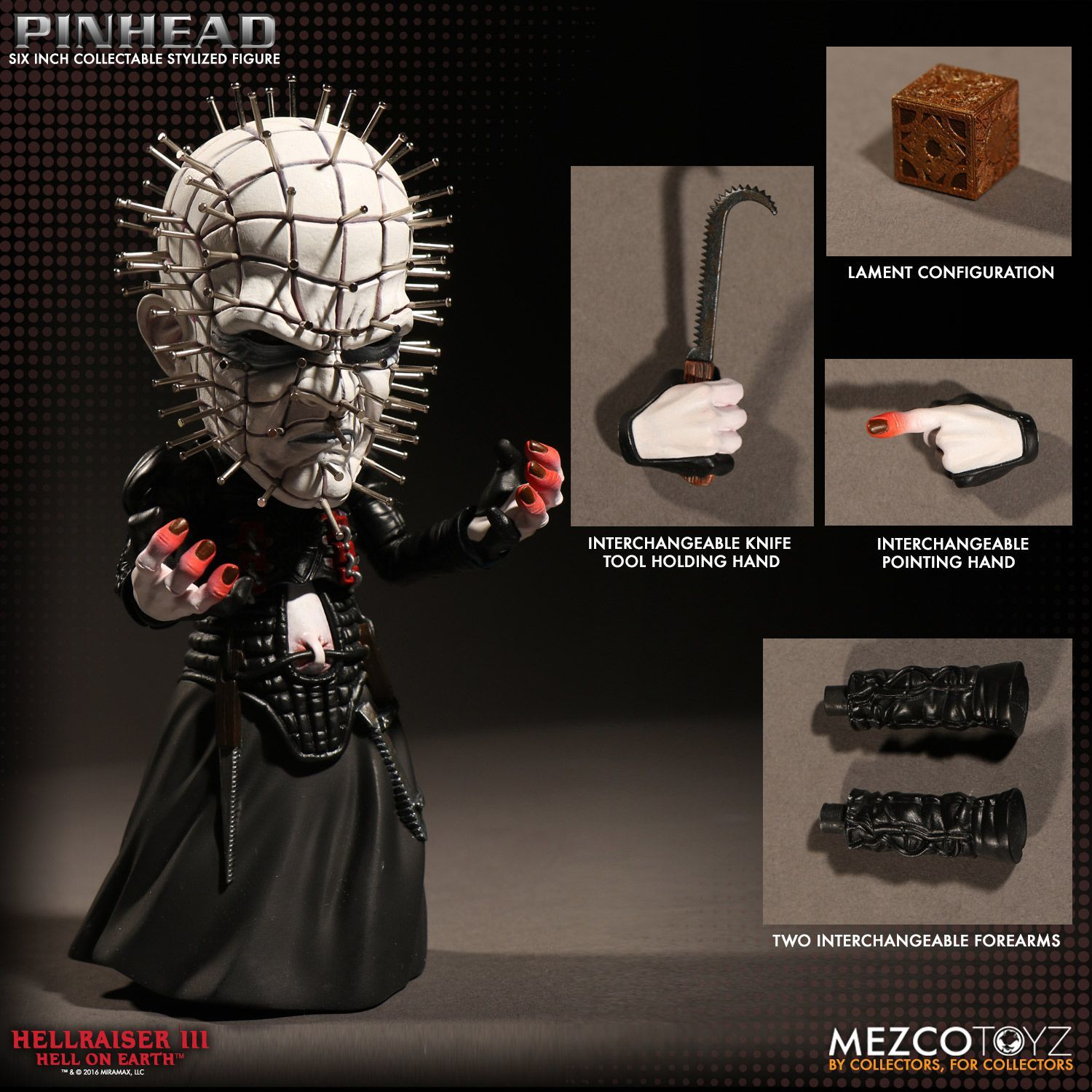 "Hellraiser - Pinhead - 6"" Deluxe Stylized Figure image"