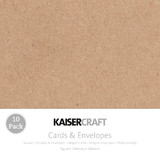 Kaisercraft: Square Card and Envelope 10 Pack - Kraft