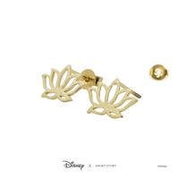 Short Story: Disney Earring Jasmine Lotus - Gold image
