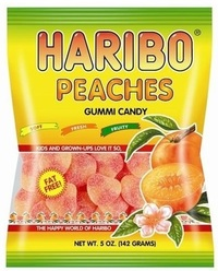 Haribo Peaches Gummi Candy (142gms)