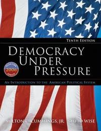 Democracy Under Pressure by Milton C. Cummings
