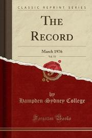The Record, Vol. 53 by Hampden-Sydney College image