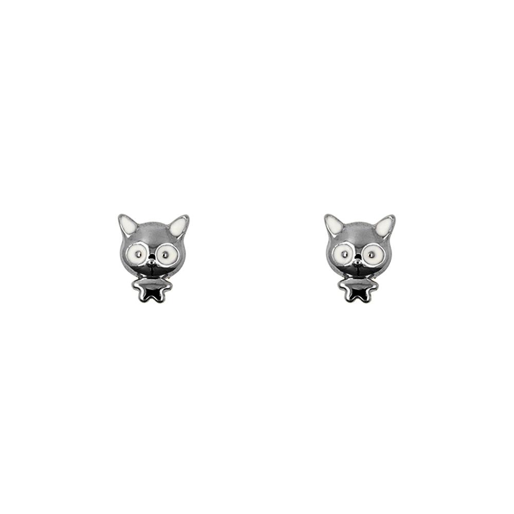 Short Story: Earring Monster Cat Black image