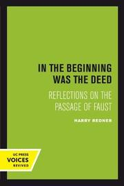 In the Beginning was the Deed by Harry Redner image