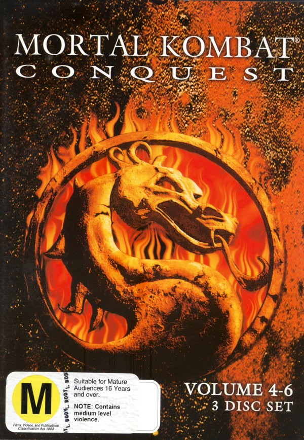 Mortal Kombat: Konquest Vol 4-6 (3 Disc) on DVD image