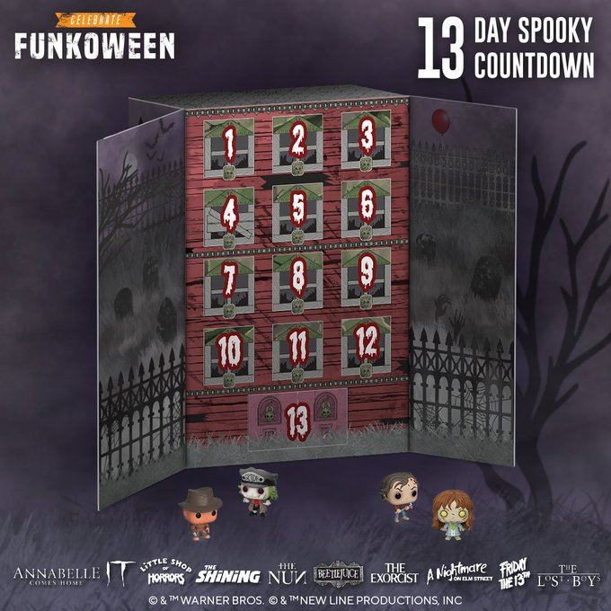 """Funkoween: 13-Day """"Spooky"""" Countdown - Advent Calendar (2020) image"""
