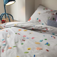 Snurk: Quilt Cover Set Knitted Flowers - Queen