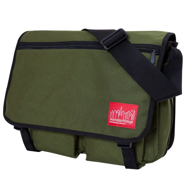 Manhattan Portage: Europa With Back Zipper - Olive (Large)